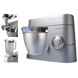 Küchenmaschine KENWOOD KMC 550 mit eingeschlossen (AT338 + Mixer Fleischwolf A950A) Edelstahl Gebrauchsanweisung