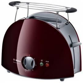 Benutzerhandbuch für Toaster BOSCH Venezia Collection TAT6108 grau/rot