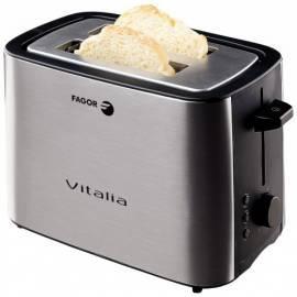 Bedienungsanleitung für Toaster FAGOR TTE-402 Schwarz/Edelstahl