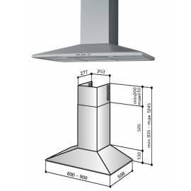 deutsche bedienungsanleitung f r dunstabzugshaube best kb170l9n edelstahl deutsche. Black Bedroom Furniture Sets. Home Design Ideas