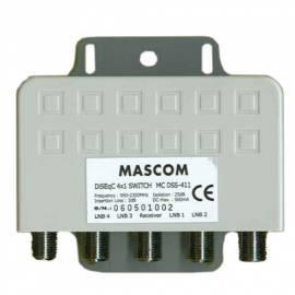 Zubehör für sat.techniku MASCOM DSS 411 für 4 LNB - Anleitung