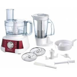 Bedienungshandbuch Küchenmaschine MOULINEX Masterchef FP 519 GB7 weiß/rot