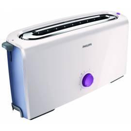 Handbuch für Toaster PHILIPS HD 2611/40 weiss/lila