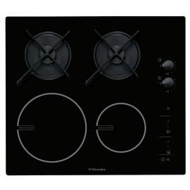 Das kombinierte Kochfeld ELECTROLUX ER 60020 und schwarz Gebrauchsanweisung