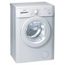 Handbuch für Waschvollautomat GORENJE Classic WS 50105 weiß