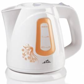 Wasserkocher ETA Marcia 1583 90020 Weiss/Orange Gebrauchsanweisung