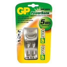 Ladegerät GP PowerBank PB25GS + 2 X GP270AAHC Silber Gebrauchsanweisung
