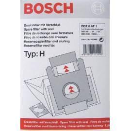 BOSCH Staubsaugerbeutel für BBZ6AF1 Gebrauchsanweisung