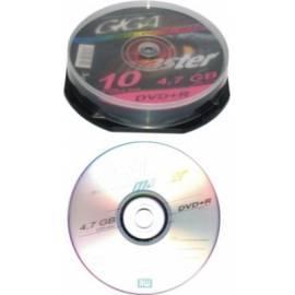Handbuch für Aufnahme, mittlere GIGAMASTER DVD + R 4, 7 GB 10er Pack