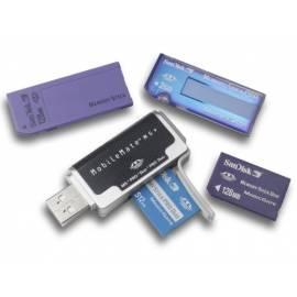 Card Reader SANDISK Mobile Mate MS Card Reader 4 in 1, MS, MS-PRO, MS-DUO, MS PRO DUO (55057) - Anleitung