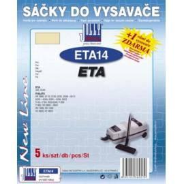 Datasheet Taschen für Staubsauger JOLLY ETA-14