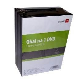 PDF-Handbuch downloadenBox für CD/DVD COVER DVD Hülle drauf schwarz, 14 mm, 5 Stück (COVERIT5) schwarz