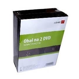 Benutzerhandbuch für Box für CD/DVD COVER DVD Hülle auf IT-Dvouobal, schwarz, 14 mm, 5 Stück (COVERIT7) schwarz