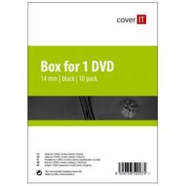 Bedienungshandbuch Box für CD/DVD COVER Cover es auf DVD-14 mm, schwarz, 10 Stück (COVERIT10) schwarz