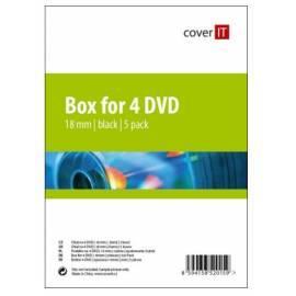 Service Manual Für CD/DVD COVER DVD Hülle drauf, schwarz, 5er Pack für 4DVD Box (COVERIT13) schwarz