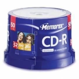 Service Manual Aufnahme-Medien ist MEMOREX CD-R 700 MB, 52 x, 50-Kuchen (ME0014)