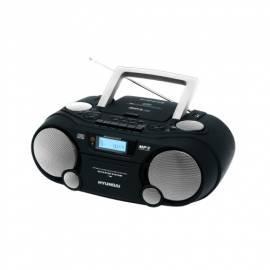 Bedienungsanleitung für HYUNDAI TRC802DRSU3 CD Radio Kassette mit schwarz