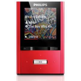 PHILIPS GoGear ViBE MP3-Player SA2VBE04R rot - Anleitung