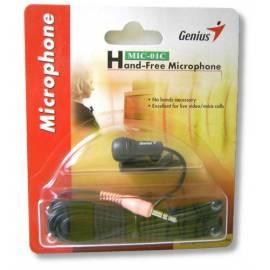 Service Manual Desktop Mikrofon MIC - 01C GENIUS Ansteck Mikrofon (31700030100) schwarz