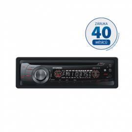 CD-Autoradio mit HYUNDAI CRM 1231R schwarz Bedienungsanleitung