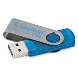 USB-flash-Disk KINGSTON Data Traveler DataTraveler 8GB Hi-Speed 101, Cyan (DT101C / 8GB) blau Bedienungsanleitung