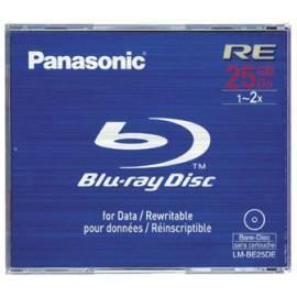 PDF-Handbuch downloadenAufnahme mittlere PANASONIC Blu-Ray-Disk LM-BE25DE