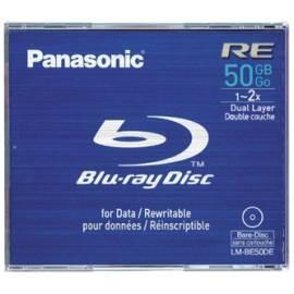 Benutzerhandbuch für Mittlere PANASONIC Blu-Ray-Disk LM-BE50DE Aufnahme