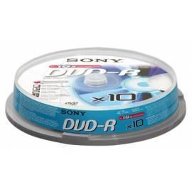 Bedienungshandbuch Aufzeichnungsmedium SONY DVD-R Disk-10DMR47BSP