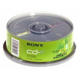 CD-R Sony 80min/700 b/40 X-Pack 25ks - Anleitung