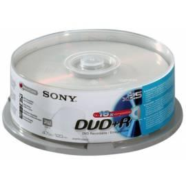 Bedienungsanleitung für Aufzeichnungsmedium SONY DVD + R Disk-25DPR120BSP