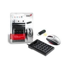 Bedienungsanleitung für Tastatur Maus GENIUS NumPad C600 (31340001100) schwarz/silber