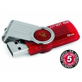 Service Manual USB-flash-Disk KINGSTON DataTraveler 101, Generace 2 8GB USB 2.0 (DT101G2 / 8GB) rot