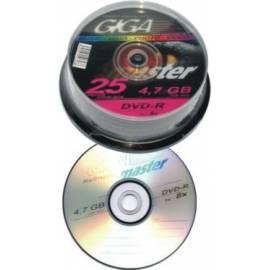 PDF-Handbuch downloadenGIGAMASTER DVD-R 4, 7GB 16 x, Kuchen 25pack