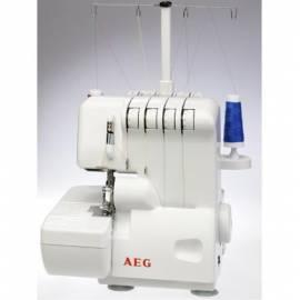 Handbuch für Overlock-Nähmaschine AEG 760 weiß