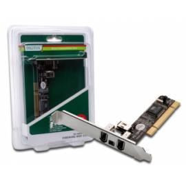 Benutzerhandbuch für Zubehör für PC DIGITUS FireWire PCI 3 + 1 Port, VIA VT6306, Low-Profile (DS-33203)
