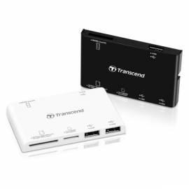 Datasheet Card-Reader TRANSCEND P7-W + USB-HUB (TS-RDP7W)-weiß