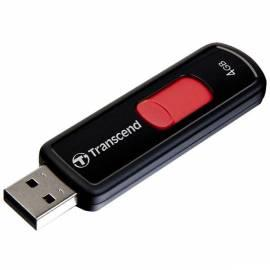 Datasheet TRANSCEND JetFlash 500 USB Flash drive 4 GB, USB 2.0 (TS4GJF500) schwarz/rot