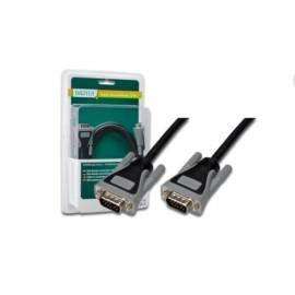 Kabel DIGITUS VGA-Kabel, / grau, AWG28, 1, 8 m, blister (DB-229971) schwarz/grau - Anleitung