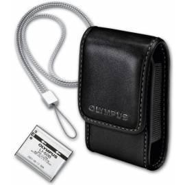 Bedienungshandbuch Zubehör für Kameras, OLYMPUS LI-50 (Akku, Ledertasche, Handschlaufe) schwarz