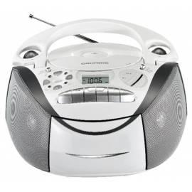 Bedienungshandbuch Radiomagnetofon Grundig RRCD2700MP3 weiß hohe s CD