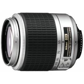 Objektiv Nikon 55-200mm AF-S DX Silber, F4-5.6 g, s LC-52 / LF-1 Gebrauchsanweisung