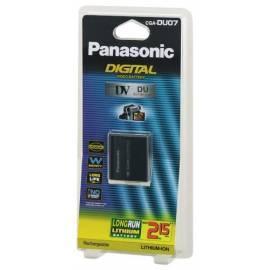 PDF-Handbuch downloadenAkku Panasonic CGA-DU07E/1 b, 7, 2V, Li-Ion, Kapazität 700 mAh, für NV-GS10 NV-GS70, NV-GS50, NV-GS40, NV-GS30 und VDR-M30