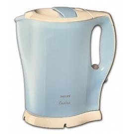 4637 HD Philips Wasserkocher Cucina Elfenbein/Metallic blau