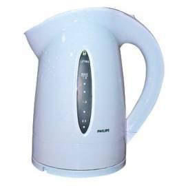 Bedienungshandbuch Philips Wasserkocher HD4672/00-WB weiß/blau