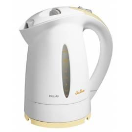 Handbuch für Philips Wasserkocher HD 4674-weiß mit gelben Mais