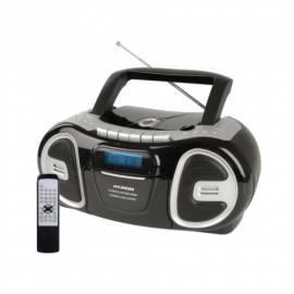 Bedienungsanleitung für HYUNDAI TRC717DR3 CD Radio Kassette mit schwarz/silber