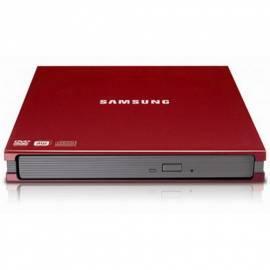 Datasheet DVD-RW SAMSUNG SE-S084C externer slim USB 2, rot