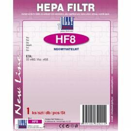 Handbuch für HEPA-Filter für Staubsauger JOLLY HF-8