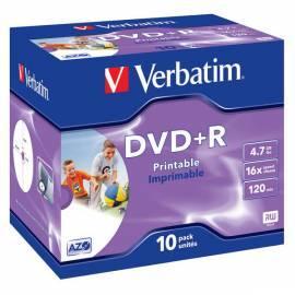 Bedienungshandbuch Aufnahme-Medien ist VERBATIM DVD + R
