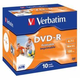 Service Manual Aufnahme-Medien, VERBATIM DVD-R